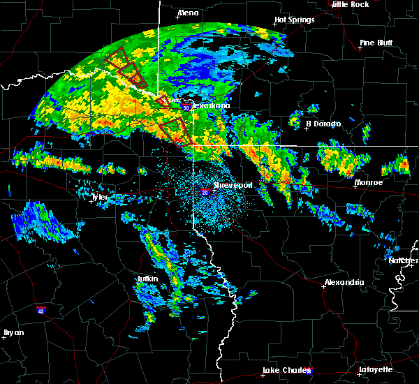 Radar Image for Severe Thunderstorms near Queen City, TX at 5/16/2020 4:30 PM CDT