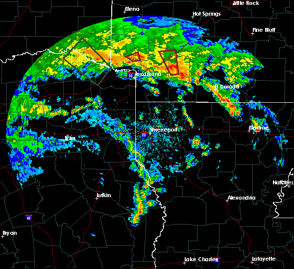 Radar Image for Severe Thunderstorms near Ben Lomond, AR at 5/16/2020 6:06 PM CDT