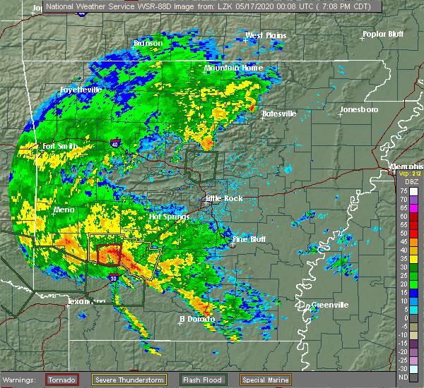 Radar Image for Severe Thunderstorms near Delight, AR at 5/16/2020 7:14 PM CDT
