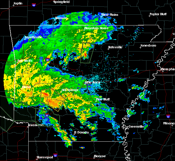 Radar Image for Severe Thunderstorms near Friendship, AR at 5/16/2020 7:58 PM CDT