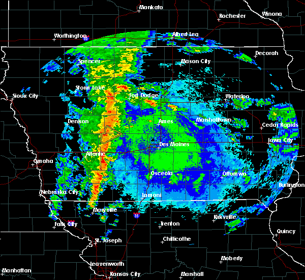 Radar Image for Severe Thunderstorms near Bagley, IA at 5/16/2020 10:50 PM CDT
