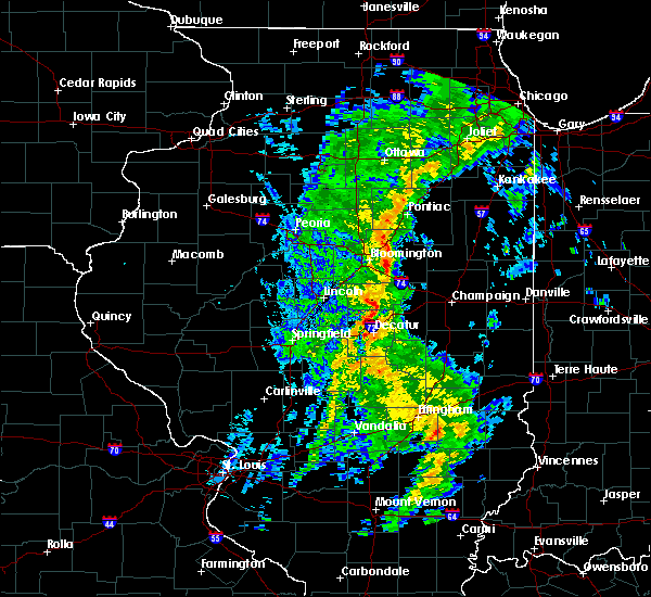 Radar Image for Severe Thunderstorms near Decatur, IL at 5/17/2020 4:12 PM CDT