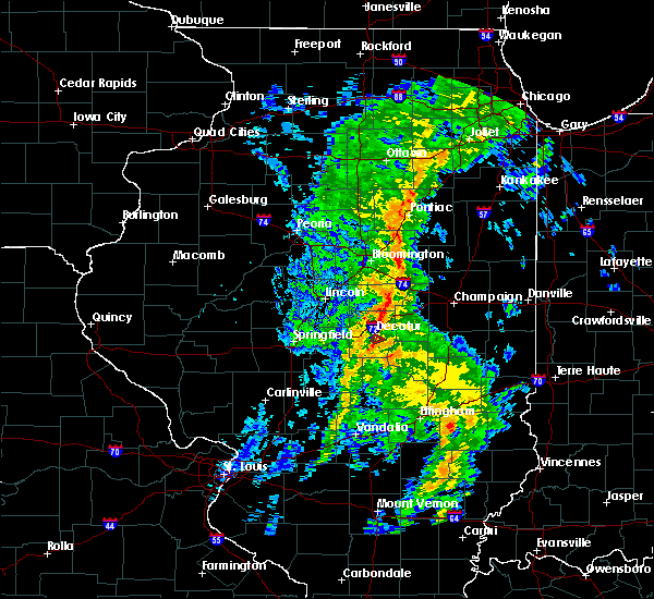 Radar Image for Severe Thunderstorms near Decatur, IL at 5/17/2020 4:24 PM CDT