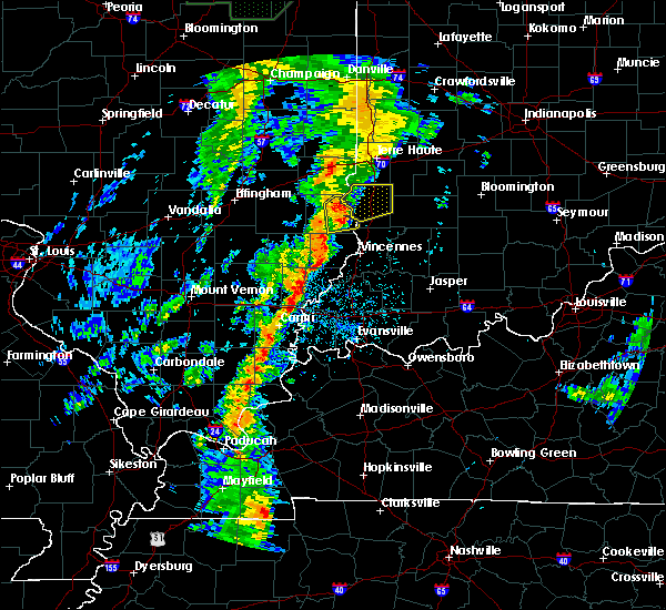 Radar Image for Severe Thunderstorms near Palestine, IL at 5/17/2020 5:43 PM CDT