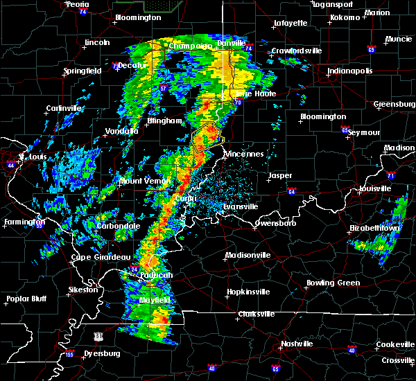 Radar Image for Severe Thunderstorms near Coalmont, IN at 5/17/2020 6:42 PM EDT