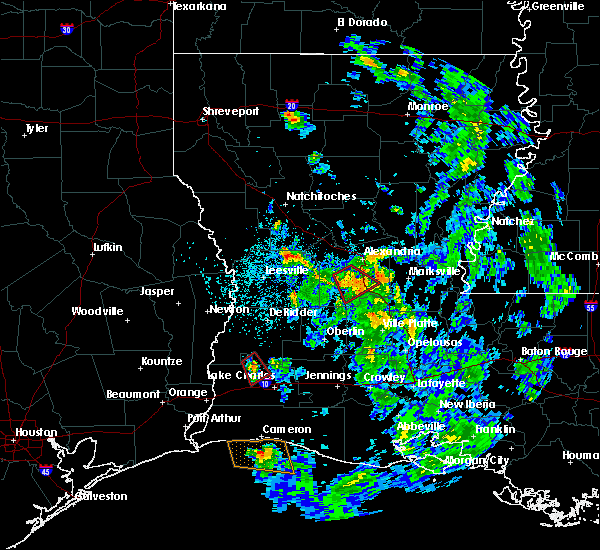 Radar Image for Severe Thunderstorms near Forest Hill, LA at 5/17/2020 6:49 PM CDT