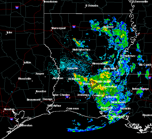 Radar Image for Severe Thunderstorms near Oberlin, LA at 5/17/2020 7:43 PM CDT