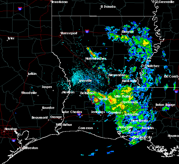 Radar Image for Severe Thunderstorms near Oberlin, LA at 5/17/2020 7:56 PM CDT