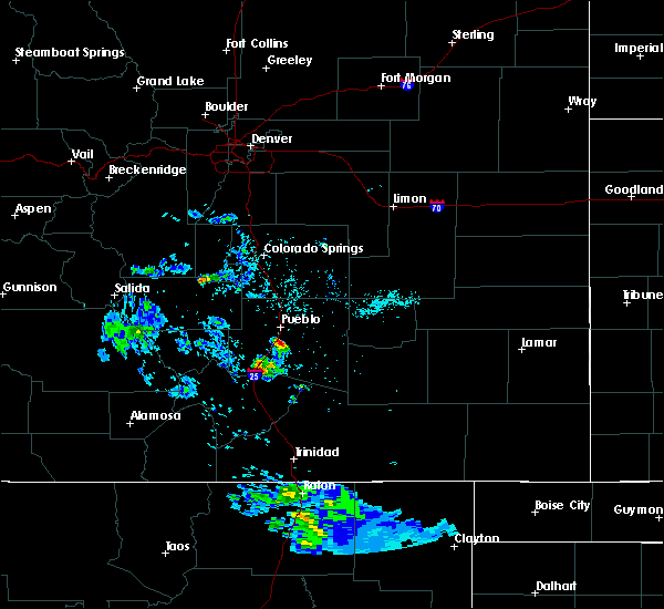 Radar Image for Severe Thunderstorms near Colorado City, CO at 5/17/2020 7:59 PM MDT
