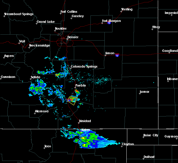 Radar Image for Severe Thunderstorms near Colorado City, CO at 5/17/2020 8:04 PM MDT
