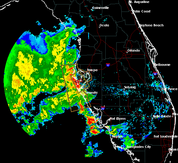 Radar Image for Severe Thunderstorms near Gulfport, FL at 5/18/2020 8:49 AM EDT