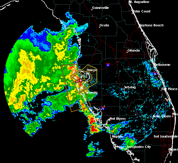 Radar Image for Severe Thunderstorms near Cortez, FL at 5/18/2020 8:56 AM EDT
