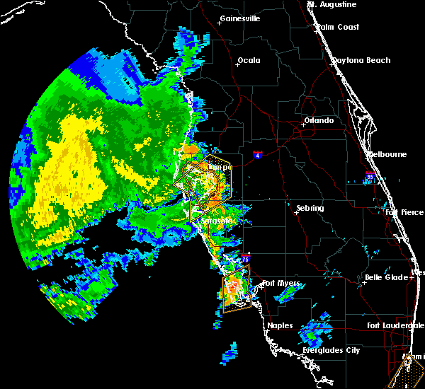 Radar Image for Severe Thunderstorms near Bartow, FL at 5/18/2020 9:26 AM EDT