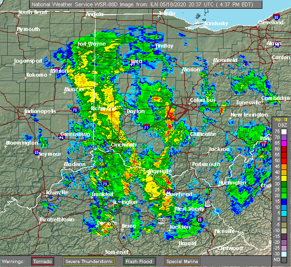 Radar Image for Severe Thunderstorms near Lake Darby, OH at 5/18/2020 4:39 PM EDT