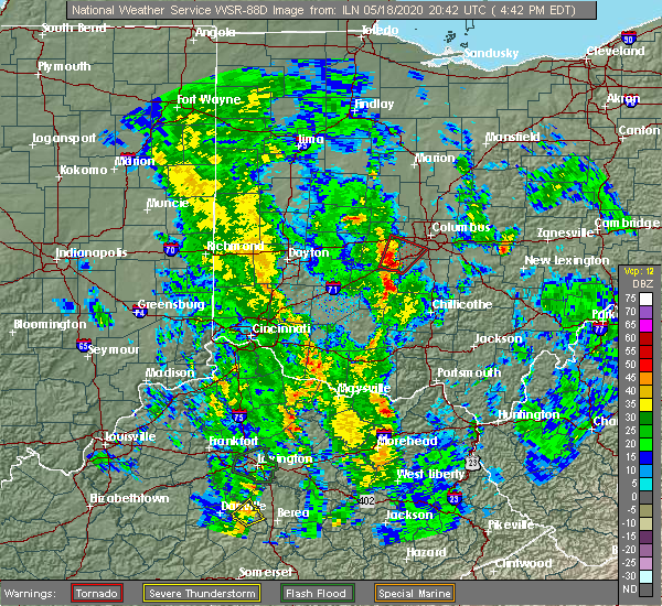Radar Image for Severe Thunderstorms near Lake Darby, OH at 5/18/2020 4:54 PM EDT