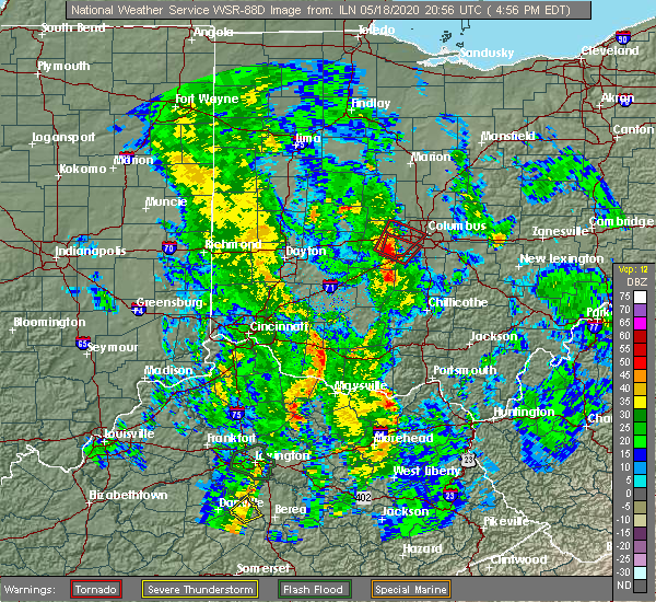 Radar Image for Severe Thunderstorms near Lake Darby, OH at 5/18/2020 4:58 PM EDT