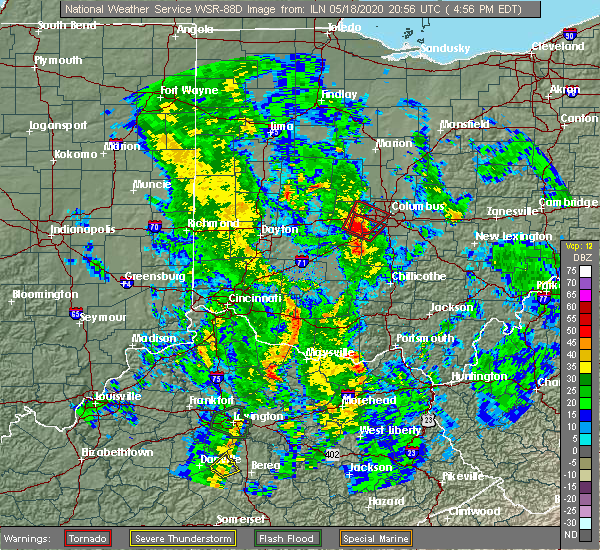 Radar Image for Severe Thunderstorms near Lake Darby, OH at 5/18/2020 5:02 PM EDT