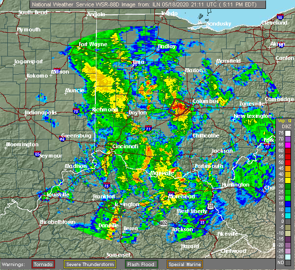 Radar Image for Severe Thunderstorms near Lake Darby, OH at 5/18/2020 5:15 PM EDT