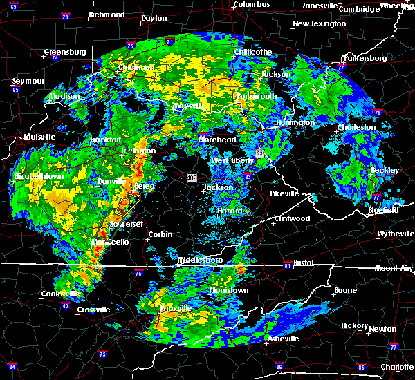 Radar Image for Severe Thunderstorms near Mount Vernon, KY at 5/18/2020 6:00 PM EDT