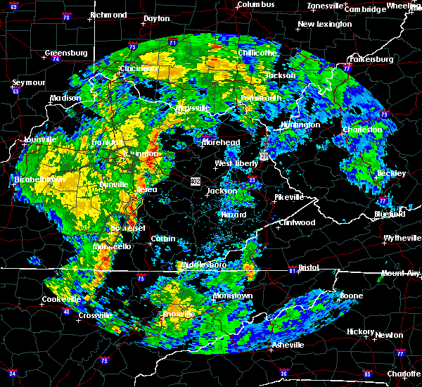 Radar Image for Severe Thunderstorms near Mount Vernon, KY at 5/18/2020 6:25 PM EDT