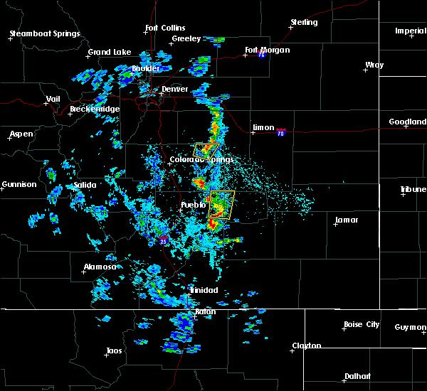 Radar Image for Severe Thunderstorms near Calhan, CO at 5/19/2020 4:35 PM MDT