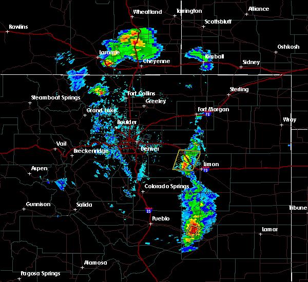 Radar Image for Severe Thunderstorms near Deer Trail, CO at 5/19/2020 6:10 PM MDT