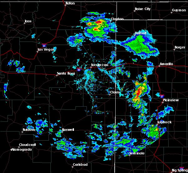 Radar Image for Severe Thunderstorms near Grenville, NM at 5/19/2020 6:15 PM MDT