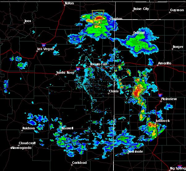 Radar Image for Severe Thunderstorms near Grenville, NM at 5/19/2020 6:24 PM MDT