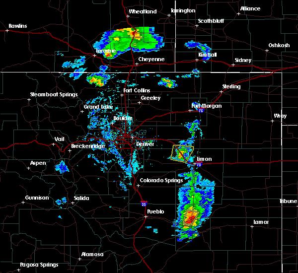 Radar Image for Severe Thunderstorms near Deer Trail, CO at 5/19/2020 6:28 PM MDT