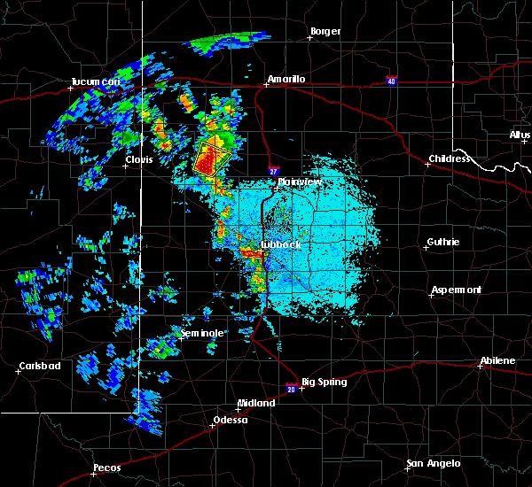 Radar Image for Severe Thunderstorms near Dimmitt, TX at 5/19/2020 7:33 PM CDT