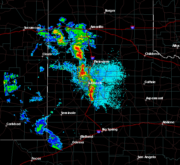 Radar Image for Severe Thunderstorms near Hart, TX at 5/19/2020 8:22 PM CDT