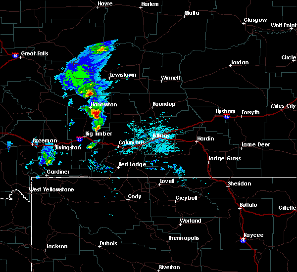 Radar Image for Severe Thunderstorms near Shawmut, MT at 5/19/2020 7:27 PM MDT