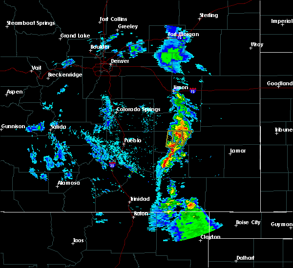 Radar Image for Severe Thunderstorms near Rocky Ford, CO at 5/19/2020 7:29 PM MDT
