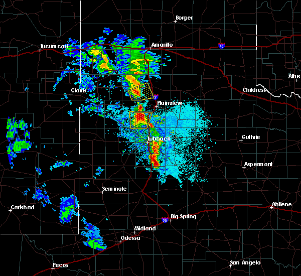 Radar Image for Severe Thunderstorms near Spade, TX at 5/19/2020 8:30 PM CDT