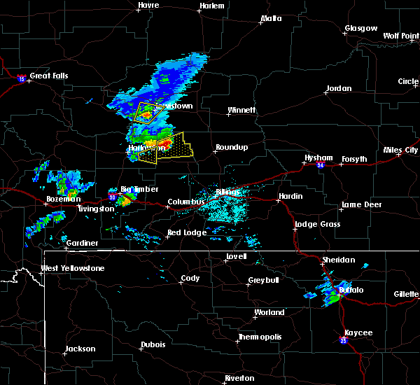 Radar Image for Severe Thunderstorms near Shawmut, MT at 5/19/2020 8:24 PM MDT