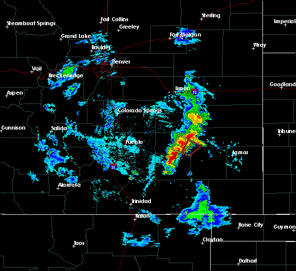 Radar Image for Severe Thunderstorms near Rocky Ford, CO at 5/19/2020 8:37 PM MDT