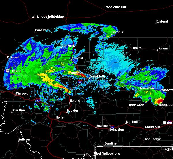Radar Image for Severe Thunderstorms near Carter, MT at 5/20/2020 2:03 AM MDT