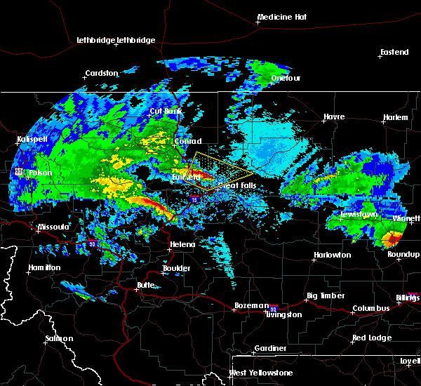 Radar Image for Severe Thunderstorms near Carter, MT at 5/20/2020 2:15 AM MDT