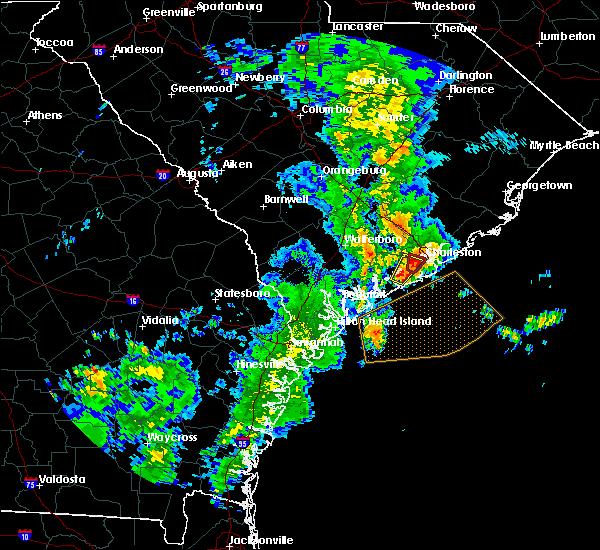 Radar Image for Severe Thunderstorms near Charleston, SC at 5/20/2020 12:10 PM EDT
