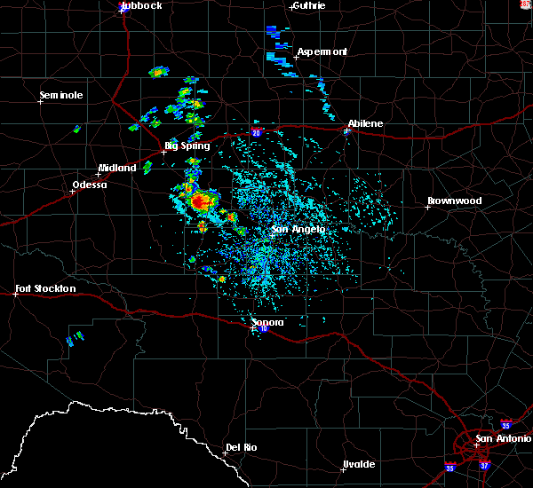 Radar Image for Severe Thunderstorms near Sterling City, TX at 5/20/2020 3:55 PM CDT
