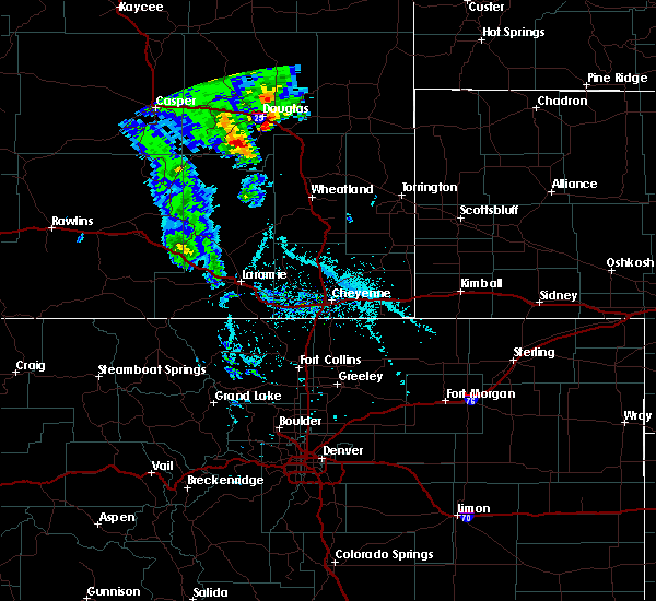 Radar Image for Severe Thunderstorms near Douglas, WY at 5/20/2020 2:56 PM MDT