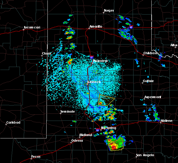 Radar Image for Severe Thunderstorms near Post, TX at 5/20/2020 4:05 PM CDT