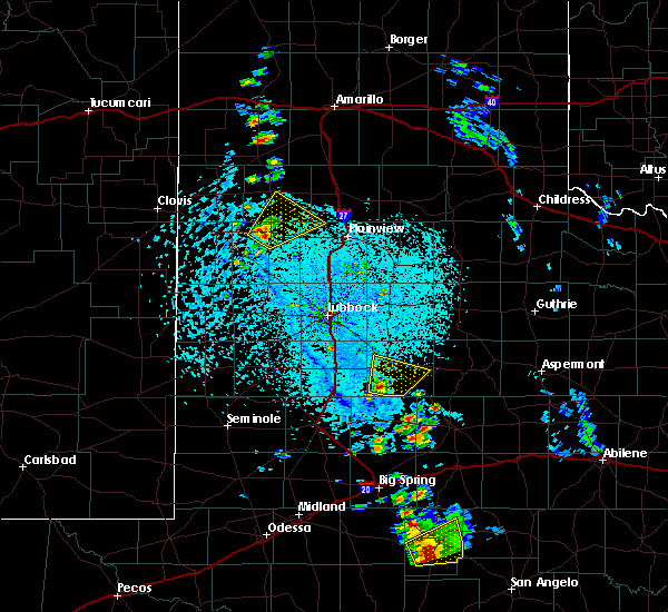 Radar Image for Severe Thunderstorms near Hart, TX at 5/20/2020 4:09 PM CDT