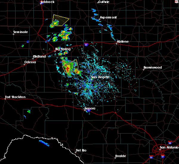 Radar Image for Severe Thunderstorms near Sterling City, TX at 5/20/2020 4:11 PM CDT