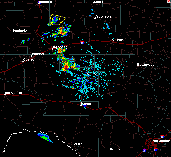 Radar Image for Severe Thunderstorms near Sterling City, TX at 5/20/2020 4:28 PM CDT