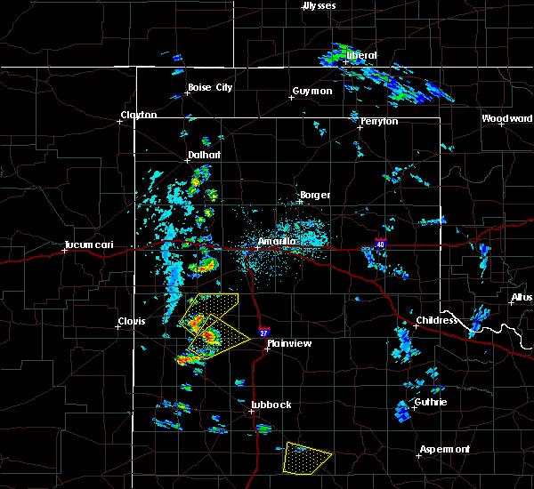 Radar Image for Severe Thunderstorms near Dimmitt, TX at 5/20/2020 4:28 PM CDT