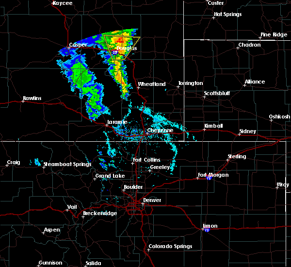 Radar Image for Severe Thunderstorms near Douglas, WY at 5/20/2020 3:35 PM MDT