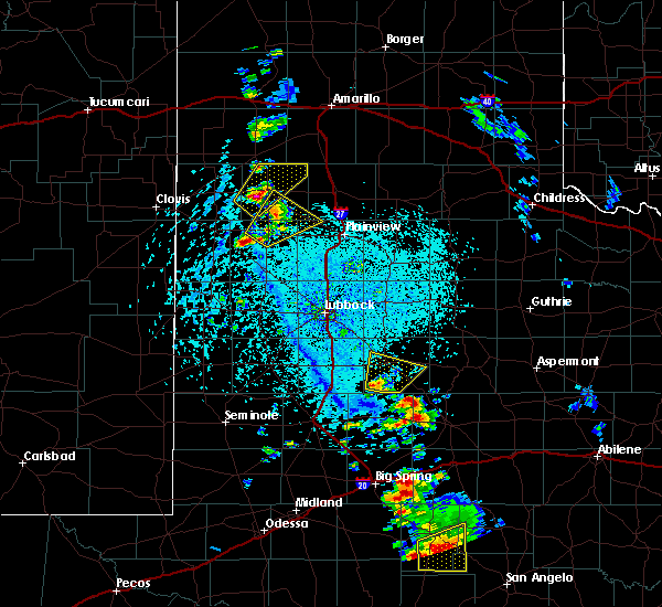 Radar Image for Severe Thunderstorms near Post, TX at 5/20/2020 4:37 PM CDT