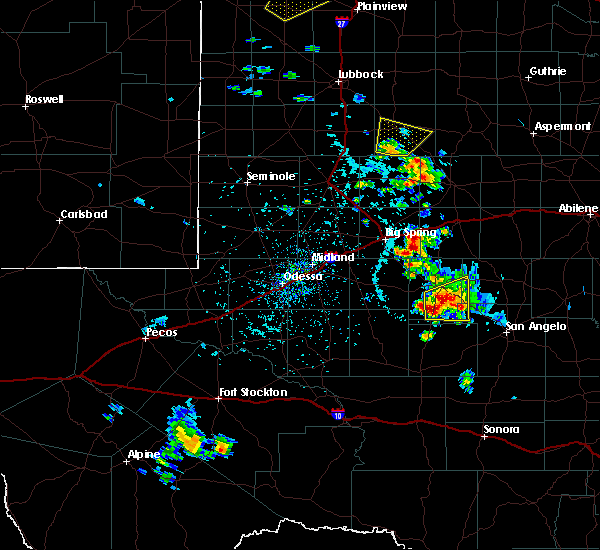 Radar Image for Severe Thunderstorms near Sand Springs, TX at 5/20/2020 4:39 PM CDT