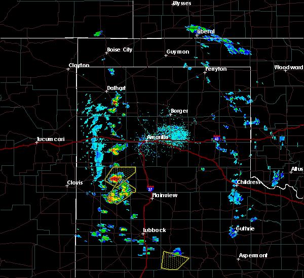Radar Image for Severe Thunderstorms near Dimmitt, TX at 5/20/2020 4:46 PM CDT